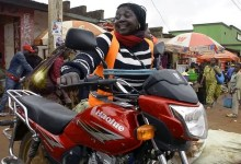 Photo of Meet the woman driving a motorbike taxi in eastern Congo