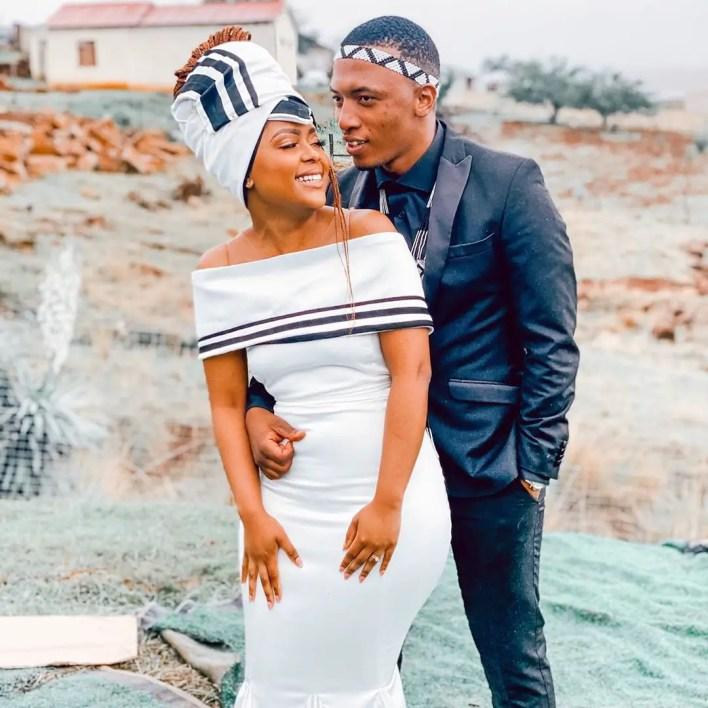 Dumi Mkokstad and wife Ziphozenkosi Nzimande