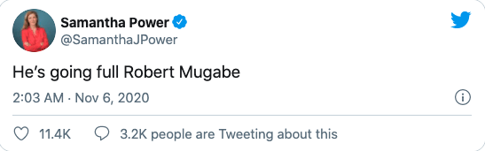 Samantha Power tweet
