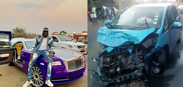Social Media praises Honda Fit, the small car that survived Ginimbi's Rolls Royce during accident