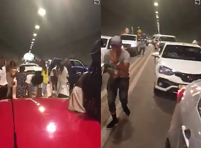 Young South Africans shut down Pretoria tunnel and turn it into a party venue