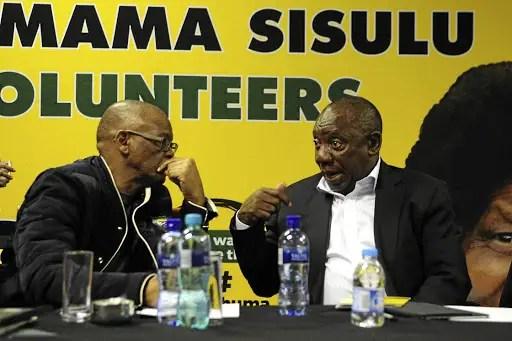 Cyril Ramaphosa and Ace Magashule