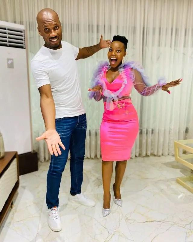 Didier Drogba and Nomcebo Zikode