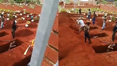 Durban grave diggers prepare burial sites for Covid-19 victims