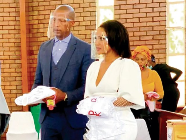 Jimmy Tau and his fiance Tsholofelo Mhlongo