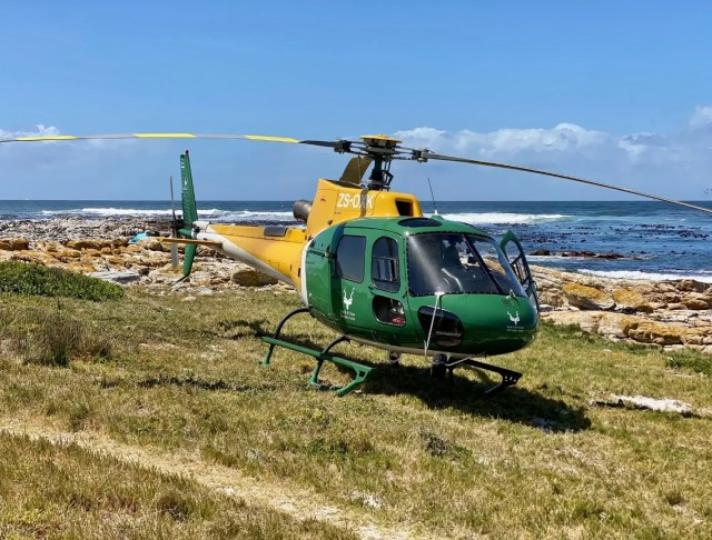 South African National Parks (SANParks) helicopter