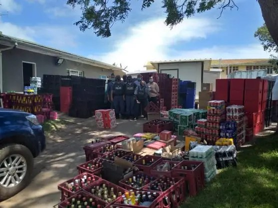 seized alcohol worth around R1 million from a tavern owner in Thornhill, Eastern Cape