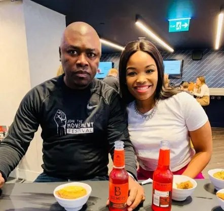 Businessman Robert Ngwenya with wife Zinhle Mabena