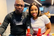 Businessman Robert Ngwenya with wife Zinhle Mabena