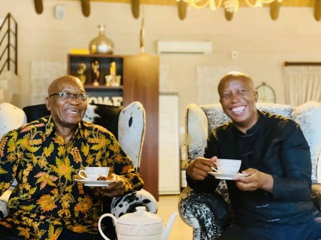 Inside Jacob Zuma and Julius Malema tea meeting at his Inkandla home