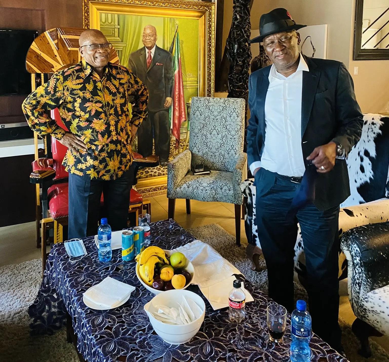 Police Minister Bheki Cele and Jacob Zuma