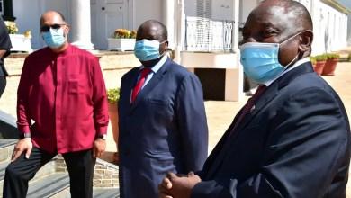 President Cyril Ramaphosa and Finance Minister Tito Mboweni