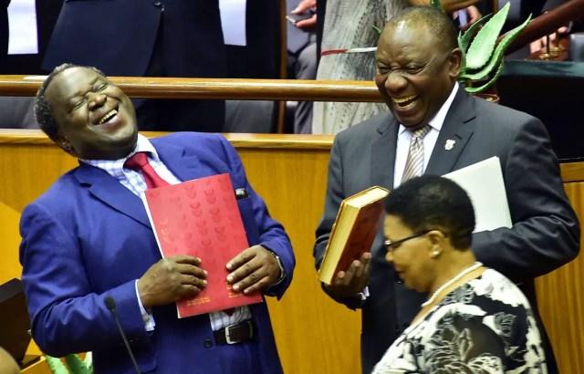 Tito Mboweni and Cyril Ramaphosa