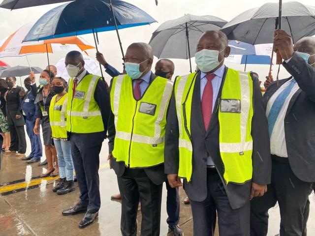 Zweli Mkhize David Mabuza and Cyril Ramaphosa