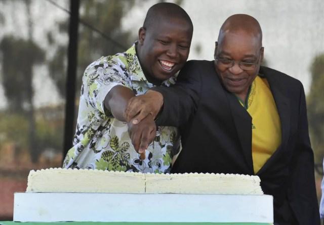 former president Jacob Zuma and EFF leader Julius Malema