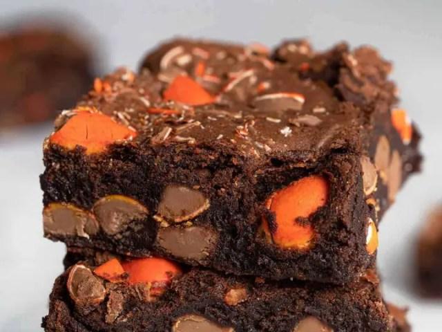 Dark chocolate and orange brownies