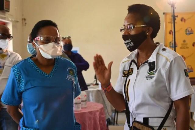 Dr Thokozani Mhlongo and MEC Dr Phophi Ramathuba