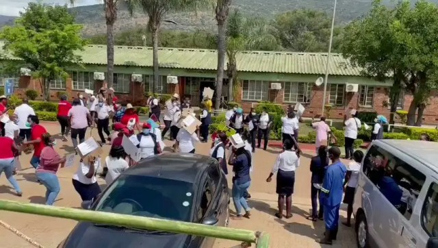 Limpopo healthcare workers protest over 25% salary cut
