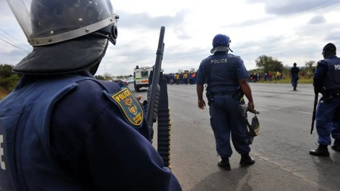 Police deployed at Rabie Ridge following protests over land