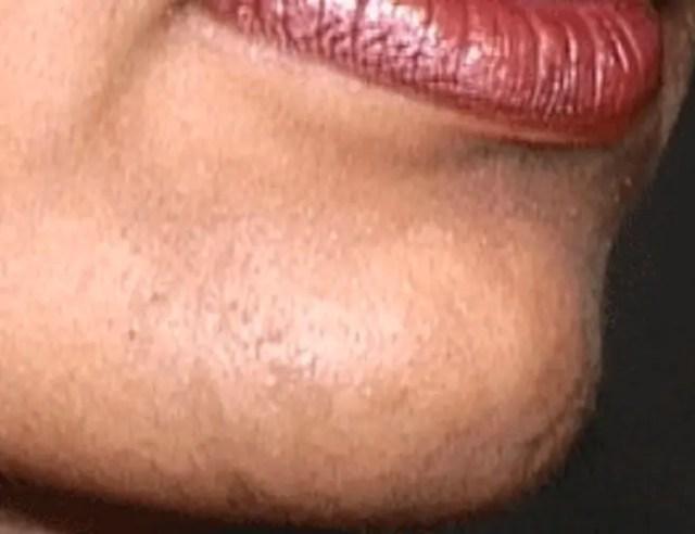 woman lady growing beard