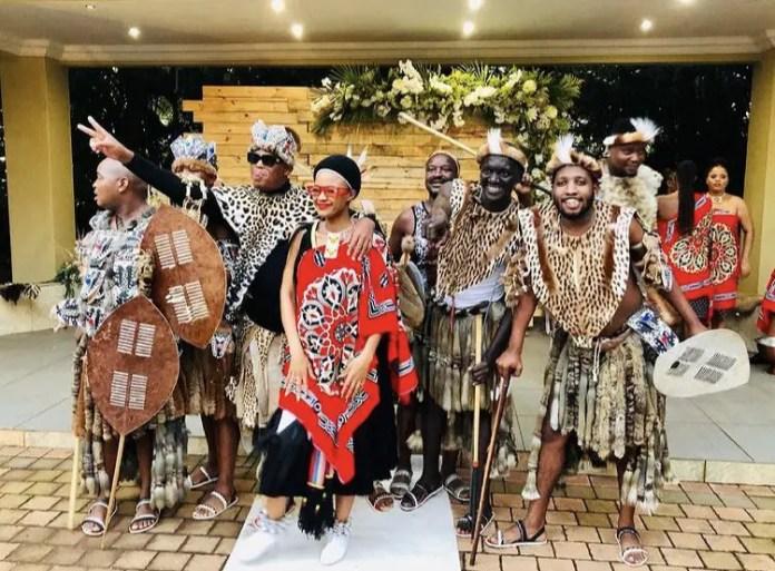 Babes Wodumo and Mampintsha beautiful traditional wedding