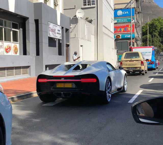 R50 million Bugatti spotted in the streets of Mzansi