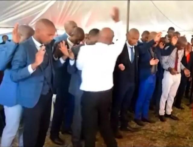 SA pastor heavily slaps his congregants while praying for them