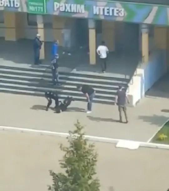 Chaos as 9 people die in school shooting