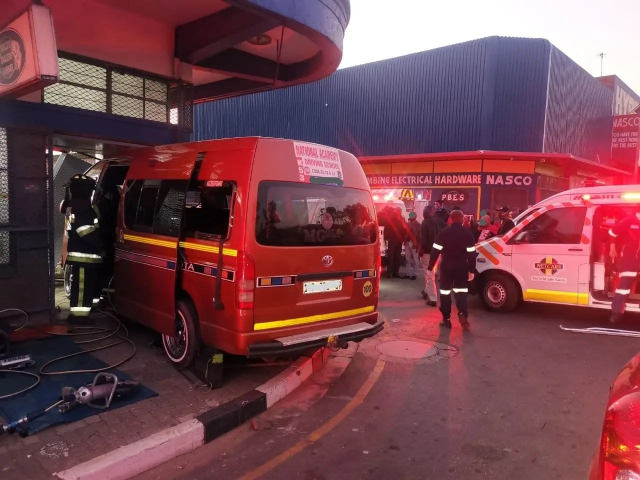 Five injured after taxi crashing into store