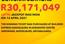 73-year-old to donate money to schools after winning R30 million Lotto