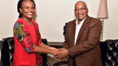 Busisiwe Mkhwebane and Jacob Zuma