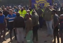 Parents heavily beat each other outside Witbank Technical High School in Mpumalanga