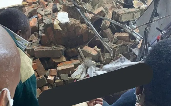 A woman has been injured following a structural collapse at a Krugersdorp shopping centre