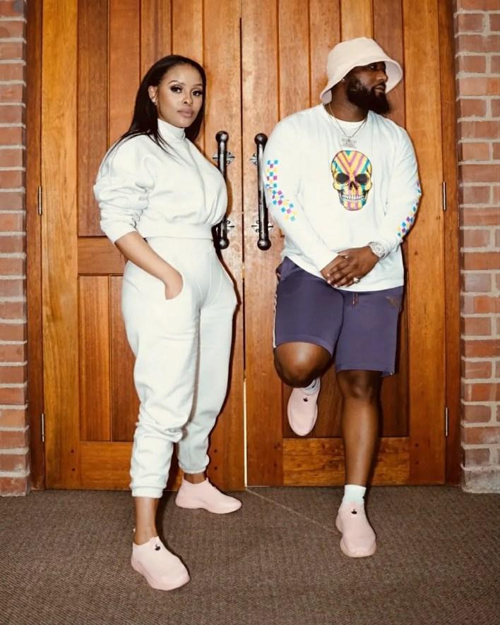 Cassper Nyovest and Kefilwe Mabote