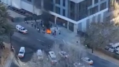 Chaos erupts at protest in Joburg