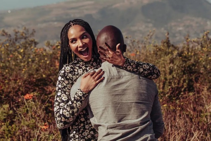 Musa Mthombeni and Liesl Laurie