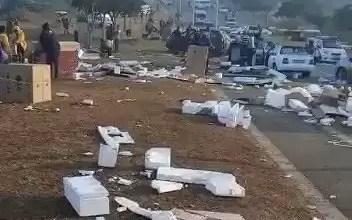 SA LG factory looted and burned down