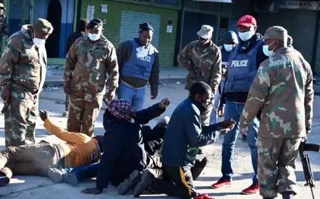 SANDF soldiers patrol in Alexandra