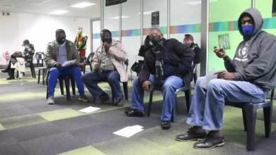 Taxi operators make use of the vaccination centre in Midrand