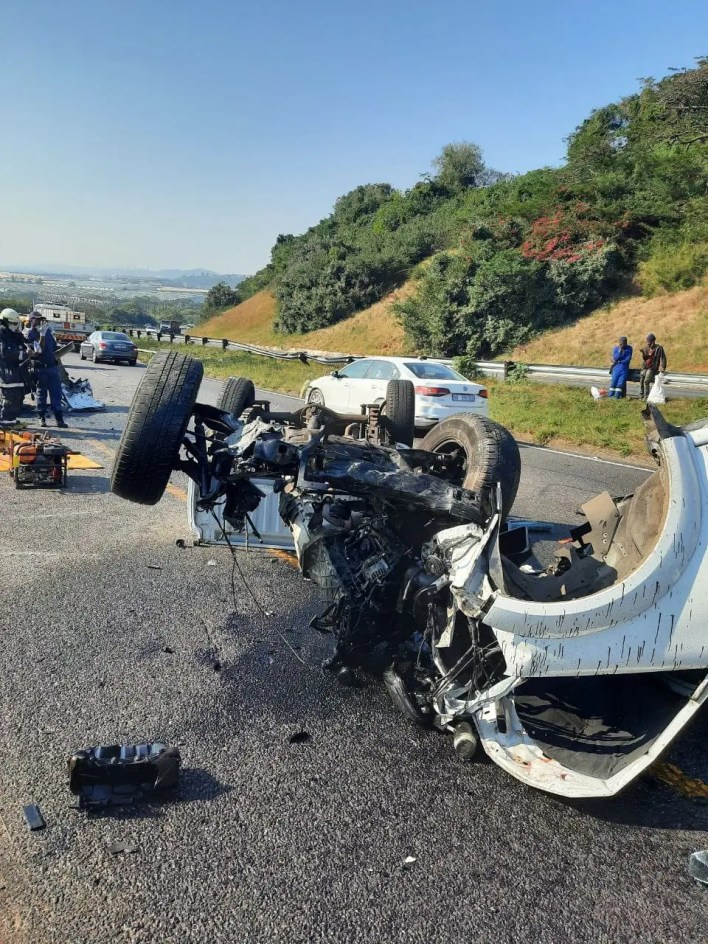 Two dead, three injured in N2 collision