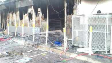 looted and torched business