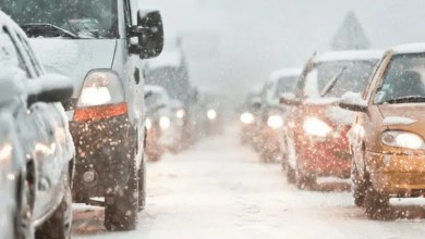 car travelling in snow