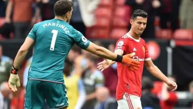 Emiliano Martinez and Cristiano Ronaldo