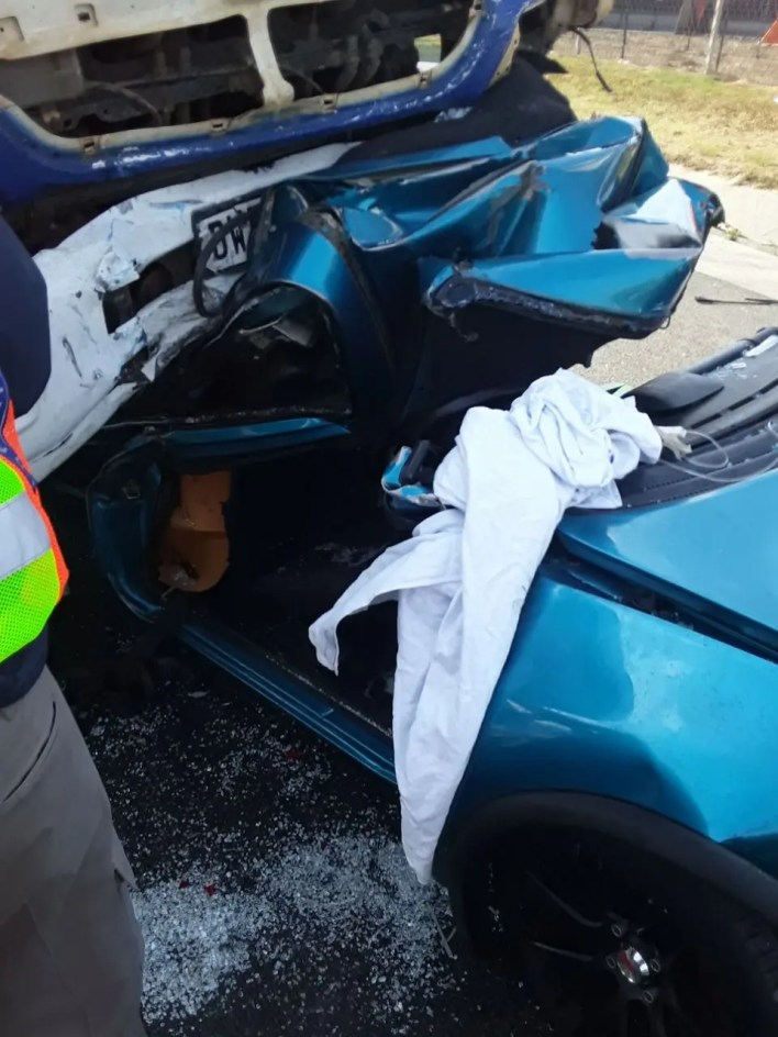 Driver critically injured in collision with truck