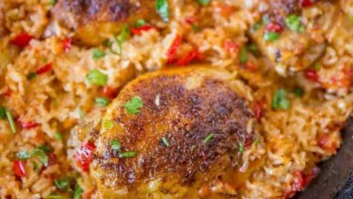 Mexican-style chicken and rice bake