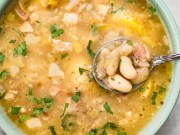 Bacon and white bean soup