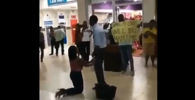 Woman proposes