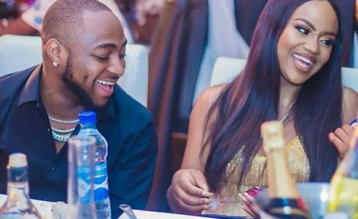 Reactions as Chioma and Davido reunite for their son's birthday party