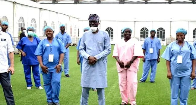 Gov. Sanwo-Olu, Health Commissioner, others commissions 110 bed spaces