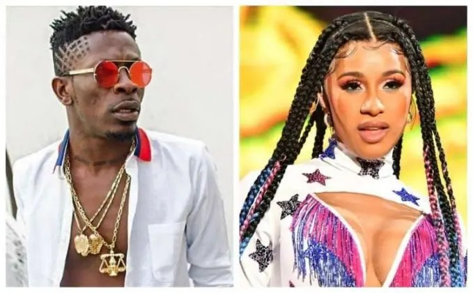 Cardi B reacts to Shatta Wale's post